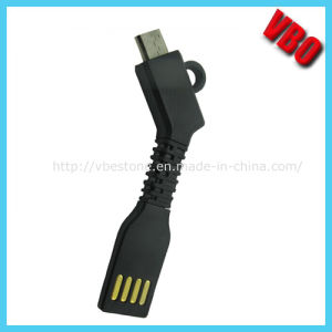 Keychain Flexible USB Data and Charging Cable for iPhone, Samsung Glalaxy (CS-068) pictures & photos