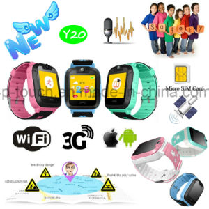 3G/WiFi Network Smart Kids GPS Tracker Watch with Camera Y20 pictures & photos