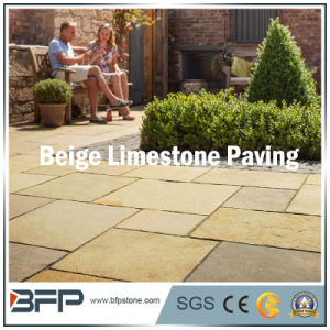 Beige Limestone Paving Stone Tiles for Landscape & Garden pictures & photos