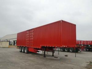 14m 3 Axles Van Type Transportation Semi Trailer