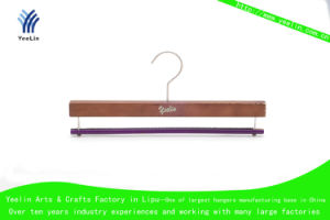 Wooden Pant Hanger, Wood Trousers Hanger (YLWD33530H-CHR1) for Supermarket pictures & photos