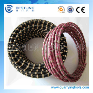 11.5mm 40 Beads Rubberized Granite Diamond Wire Saw pictures & photos