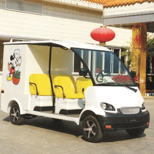 CE Approve Electric Mobile Food Transport Cart with Seat (DU-F4) pictures & photos