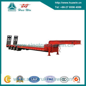 4 Axle Low Bed Semi Trailer with Manual Spring Ladder pictures & photos