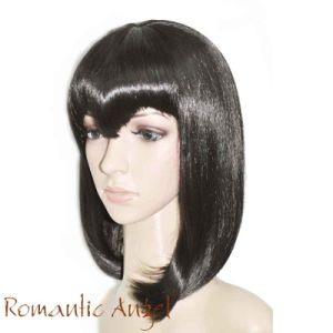 "16""/40cm Synthetic Wig Straight-Layered with Bangs Wigs for Women Natural Hairline Eurasian Girls Style pictures & photos"