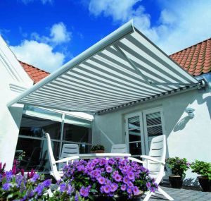 Luxrious Remote Control Full Cassette Retractable Awning for Patio with CE pictures & photos