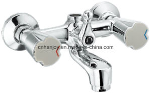 Wall Mounted Double Handle Bathtub Faucet (H51-102) pictures & photos