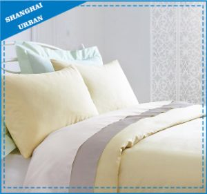 Lemonade Solid Premier 300tc Cotton Bedsheet Set pictures & photos