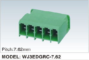 Wanjie Male Plug-in Terminal Blocks with Staight Pin (WJ3EDGRC-7.62) pictures & photos