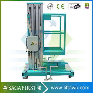 High Quality Aluminum Aerial Working Man Lift Platform Price Low pictures & photos