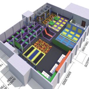 Indoor Children Playground and Big Amusement Trampoline pictures & photos
