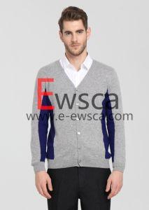 Color Patterns Gentlemen Cardigan Sweater