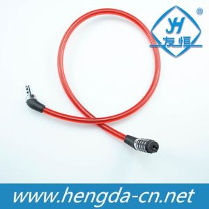 Yh1220 4-Digit Combination Red Bicycle Locks Long Cable Bike Lock pictures & photos
