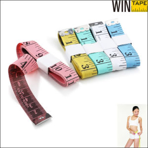 PVC Fiberglass Fabric Promotional Gift Yellow Tape Measure (FT-057) pictures & photos