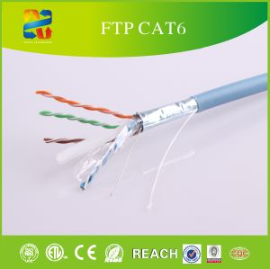 LAN Cable Solid Bare Copper STP CAT6 with CE RoHS pictures & photos