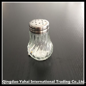 40ml Glass Storage Spicy Jar with Twill Pattern pictures & photos