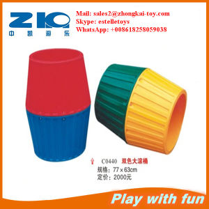 Playground Plastic Big Barrel for Kids Zhongkai pictures & photos