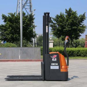 Cost Effective 1.2t-1.6t Double Lift Stand on Electric Forklift Price (CDD14) pictures & photos