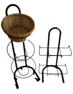 Fruit Vegetables Rectangle Round Baskets Display Stand