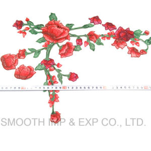 Wholesale Fashion Cheap Flower Dress Iron on Embroidery Rose Patches pictures & photos