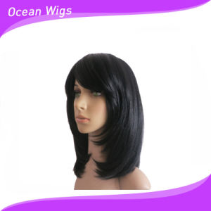 Silky Straight Natural Color Synthetic Wig pictures & photos