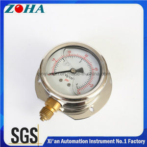 High Quality Stainless Steel Case Pressure Gauge Filled with Silicone Oil pictures & photos