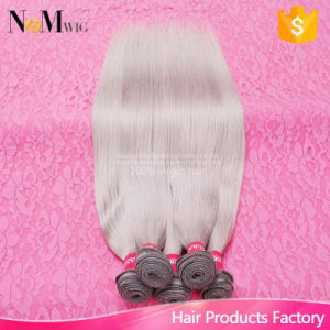 Grey Hair Weave 7A Brazillian Virgin Hair Straight Brazilian Straight Hair 100% Brazilian Grey Human Hair Sew in Weave pictures & photos