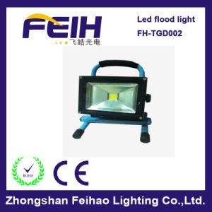 Waterproof 20W Portable Rechargeable LED Flood Light
