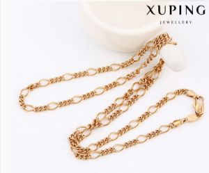 42899 Fashion Cool Rose Gold-Plated Alloy Copper Imitation Jewelry Chain Necklace pictures & photos