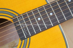 Hanhai Music / 41′′ Yellow Acoustic Guitar (00028) pictures & photos