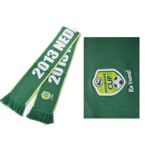 Wholesale Cheap Knitted Jacquard Official Brazil Soccer Football World Cup Scarf pictures & photos