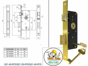 Stainless Steel Euro Standard Mortise Lock Body pictures & photos