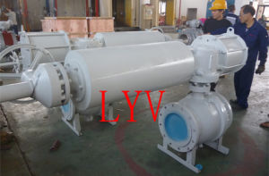 Pneumatic 2PC 2 Way Stainless Steel Ball Valve pictures & photos
