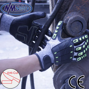 Nmsafety TPR Sewing Impact and Cut Resistant Protective Work Safety Glove pictures & photos