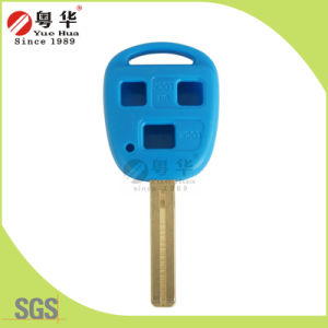 High Quality New Product - 3 Button Flip Remote Color Key Blank (Blue Color) pictures & photos