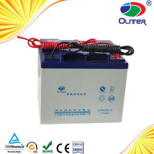 Maintenance Free Deep Cycle 12V Battery Made of Purity Gel 38ah pictures & photos