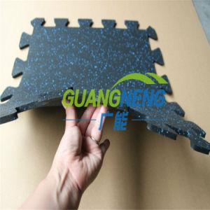 Anti-Slip Non-Toxic Interlocking Gym Floor Matting, Interlocking Exercise Rubber Flooring pictures & photos