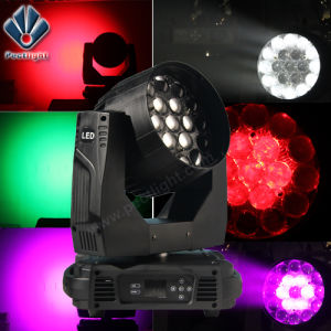 Zoom 19*15W LED Stage Lighting Moving Head Light with Fan-Temperature-Control pictures & photos