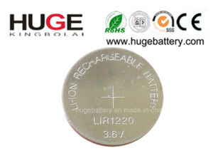 3.6V Lithium Rechargeable Button Cell Lir1220 (LIR1220) pictures & photos