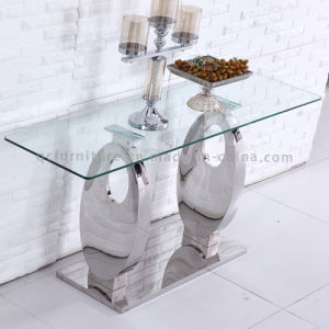 Modern Console Table with Metal Leg Stainless Steel Leg pictures & photos