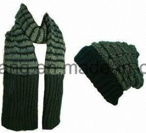 Promotion Winter Warm Knitted Acrylic Set pictures & photos