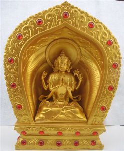 Supply Gold Paintting Buddha Statue with 50 Cm pictures & photos
