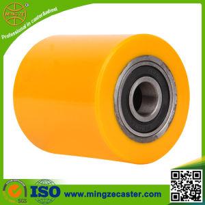 80X80mm Polyurethane Steel Roller Hand Pallet Wheel pictures & photos