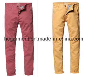Fashion Men′s Wash Slim Tapered Stretch Casual Pants pictures & photos