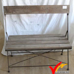 Shabby Chic Vintage Cottage Retro Wood Folding Bench pictures & photos