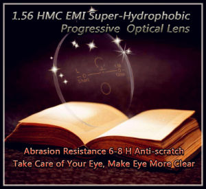 1.56 Hmc EMI Super-Hydrophobic Progressive Optical Lens pictures & photos