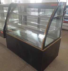 Luxury Double Arc Shape Automatic Defrost Cake Display Cabinet pictures & photos