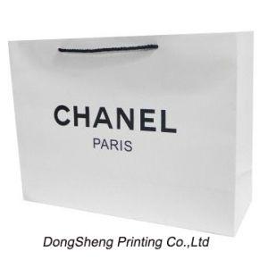White Art Paper Board Gift Shopping Bag for Apparel