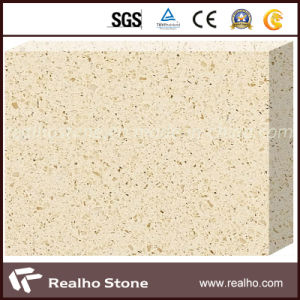 Top Polished Beige Artificial Quartz Stone for Sale pictures & photos