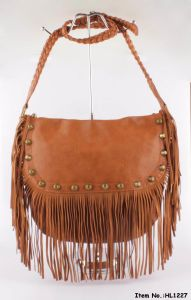 Fashion Accessories Tassel Lady Handbags (HL1227) pictures & photos